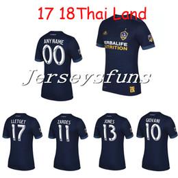 Wholesale Galaxy S Waterproof - top Thai quality LA Galaxy 17 18 Away blue soccer Jersey 2017 2018 GERRARD ZARDES GIOVANI KEANE Home white football shirts
