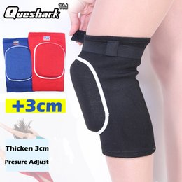 Wholesale Volleyball Knee Protectors - Wholesale- 1Pcs 3cm Thicked Sponge Crossfit Sports Knee Pads Basketball Volleyball Dancing Kneepad Kneeling Knee Bracers Support Protector
