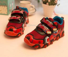 Wholesale Iron Running - Avengers children shoes Spider-man Iron man shoes children's shoes sports flash hero alliance 26-31yard New Year gift