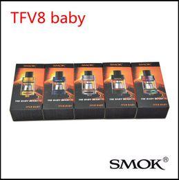 Wholesale Sub Ecig - 100% Authentic Original TFV8 Baby Tank 3.0ml Top Refill TFV8 Baby Cloud Beast Atomizer Newest sub ohm TFV8 Baby ecig tank