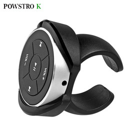 Wholesale Music Control Car Steering - Wholesale- 2017 new Wireless Bluetooth Media Remote button steering wheel remote control car bike handlebar remote controller Music Play