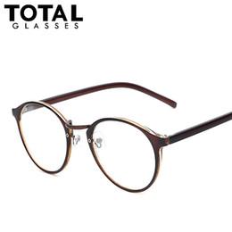 Wholesale Geek Eyeglasses - Wholesale-Hot Sale Round Eyewear Vintage Style Women Eyeglasses Brand Designer Optical Glasses Men Women Fashion Girls Geek Oculos