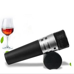 Wholesale Champagne Stoppers Wholesale - Red Wine Bottle Vacuum Stopper Champagne Bottle Preserver Air Pump Stopper Black White Vacuum Sealed Saver OOA3281