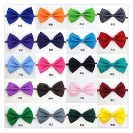 Wholesale Wedding Decorations Rabbit - Dog Tie 2017 Adjustable Pet Grooming Accessories Rabbit Cat Dog Bow Tie Solid Bowtie Pet Dog Puppy Lovely Decoration DHL free