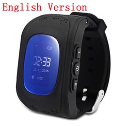 Wholesale Gsm Watch Mobile Phone - Wholesale- Q50 Smart Phone Watch Kid Wristwatch Anti Lost GPS Tracker Watch For Kids SOS GSM Mobile Phone Smartwatch For IOS Android