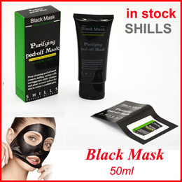 Wholesale Mineral Mask - Shills Peel-off face Masks Deep Cleansing Black Mask 50ML Blackhead Facial Mask vs PILATEN Facial Minerals Conk Facial Mask Free shipping