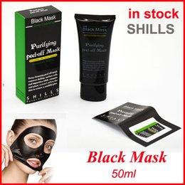 Wholesale Mineral Mud - Shills Peel-off face Masks Deep Cleansing Black Mask 50ML Blackhead Facial Mask vs PILATEN Facial Minerals Conk Facial Mask Free shipping