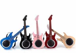 Wholesale Wholesale Guitar Usb - C330 New Creative mini-fashion guitar Bluetooth speaker mini portable with FM radio TF card small stereo