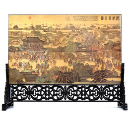 Wholesale China Mail - Wooden lacquerware small screen table office decoration China wind study foreign gifts birthday gift bag mail