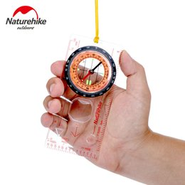 Wholesale Directional Outdoor - Wholesale-Naturehike Outdoor Camping Directional Cross-country Race Hiking Special Compass Baseplate Ruler Map Scale Compass bussola