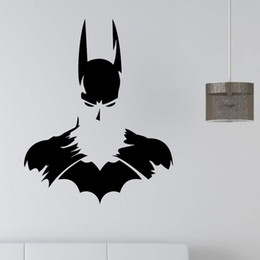 Wholesale Wall Art For Childrens Room - New Batman SUPERHERO Vinyl Wall Art Sticker Poster Wallpaper Childrens Themed Room Decals Wall Stickers Free Shipping