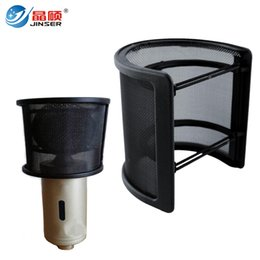 Wholesale Double Shield - Professional Double Layer Mask Microphone Pop Filter Singing Wind screen Shield Dual Layer Mask