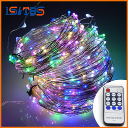 Wholesale Insect Control Light - 20M 200leds   30M 300leds   50M 500 LEDs Cool White LED String Light Christmas Lights Silver Wire Remote Control + power adapter