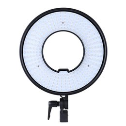 Wholesale led lights panel video - Wholesale-DVR-300DVC Photo Studio Ring LED Video Light Lamp Panel CRI 95+ Color Temperature 3000K-7000K Adjustable Photography Lighting