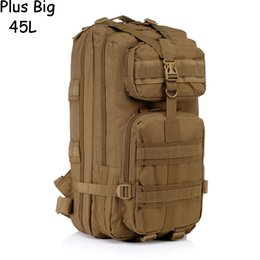 Wholesale Big Military Backpack - Outdoor Military Tactical Backpack 45L Plus Big High Quality Waterproof Men Women Bags 3P Military Tactical Backpack Large Bags Mochila