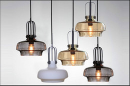 moderne cucine contemporanee Sconti New Simple Modern Contemporary appeso a 4 colori in vetro palla lampada a sospensione Lights Fixtures e27 / e26 per Kitchen Restaurant Cafe Bar