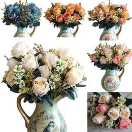 fleur grossista Desconto Atacado-5 cores Artificial Rose flores artificielle fleur rosas artificiais flores artificiais melhor decoração de casamento flor