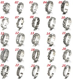 Wholesale Thai Silver Jewelry Wholesale - Retro Thai Silver Ring 925 Sterling Silver Ring Opening Adjustable Ring Women Fashion Jewelry Cheap Jewelry