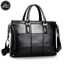 Wholesale Plaid Trends - outlet brand package fashion Plaid cross man handbag trend soft leather business briefcase leisure large capacity Plaid Korean handbag