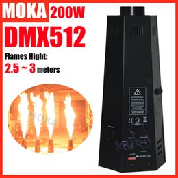 Wholesale Dmx Fire Machine - Wholesale- 1 pcs lot 6 angle fire machine six corner stage flame machine dmx Control Spray stage effect flame machine 6 Aluminum Housing