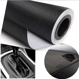Wholesale Sticker Wrapping Film White - Wholesale- 300cmX55cm 3D carbon fiber vinyl film  carbon fibre sticker black white color option FREESHIPPING car sticker 3D carbon wrap