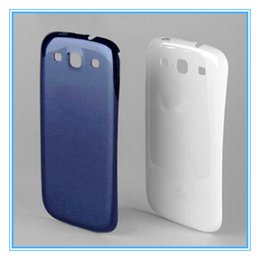 Wholesale Galaxy S3 Replacement Back Cases - High Quality New Battery Door Case Back Cover Housing Plastic Replacement for Samsung Galaxy S3 SIII i9300 I9305 White Black Blue With Logo
