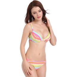 ff5d2de37be52 2019 new Women sexy elastic Swimsuit Beachwear Swimming Suit brazilian  Bikini Set Beach Bathing Suits Wear Biquini Beach strip wholesale