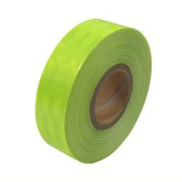 Wholesale Fluorescent Tape - 5CM x 1M DIY Fluorescent yellow green reflective tape Automobile car & motorcycle Decoration Sticker wholesale