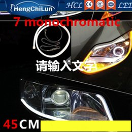 Wholesale White Car Modification - Automobile manufacturers selling led 45CM light guide lamp with monochromatic to daytime running lights car lights soft modification