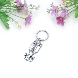 Wholesale Race Rings - 10Pcs Lot Car Keychains Creative F1 Racing Car Metal Key Chain Ring for Man's Gift