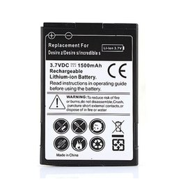 Wholesale Battery For Desire - Bateria For HTC Desire Replacement 1500mAh Battery High Quality For Z T-mobile G2 Desire S Incredible S S510e Mozart 7