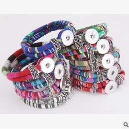 Wholesale Trading Buttons Wholesale - Foreign trade hot style button Color of national wind braided rope bracelet accessories