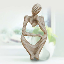 Wholesale Clay Ideas - 2017 Christmas Modern Home Decor New Ideas Sandstone Stripes Abstract Figure Crafts Resin Furnishing Articles Sculpture Clay