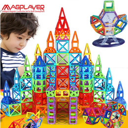 Wholesale Educational Magnetic - Dropping ship Magplayer 252pcs Magnetic Blocks Mini Magnetic Designer Construction 3D Model Magnetic Blocks Educational Toys For Child