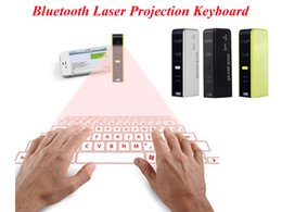 Wholesale Virtual Windows - 2017 Bluetooth laser Projection Keyboard Virtual Wireless Keyboard For Windows Phone7 iphone Android 2. 0 free DHL