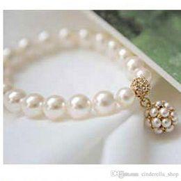 Wholesale Piercing Spirals - 2017 Bridal Accessories Fashion pearl diamond bracelet the bride intertwined spiral bracelets Bridal Jewelry bracelets hot sale for wedding