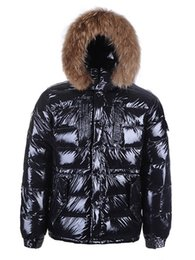 Wholesale Fur Coats For Sale - High Quality New Winter Down Hooded Jacket Men's Warm Raccoon Fur Luxury Fashion Jackets For Men Plus Size Padded Man Coats Hot Sale