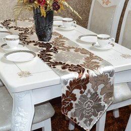 Wholesale European Style Coffee - Chinese style European style table flag, fashion table mats, modern simple coffee cloth, American tablecloths ,Other sizes can be customized