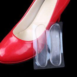 Wholesale Wholesale Shoe Parts - 40 pcs Heel Pads Foot Care Shoe Pads Transparent Slip-resistant Protector invisible Cushion Shoes Parts Silicone Insole