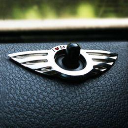 2019 adesivi mini porta 2 pz / lotto Car Insignia Emblem Wing I LOVE MINI Sticker Decorazione per BMW MINI Cooper R55 R56 R57 R58 R59 Door Lock Knob