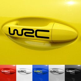 Wholesale Cross Bumpers - 2017 Wholesale Bumper stickers WRC world cross-country rally the handle post car converted personality reflective stickers