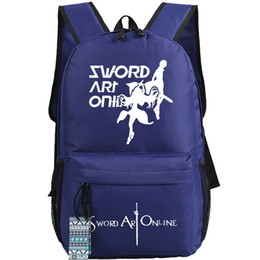 Wholesale Sword Art Online Sao - Sword Art Online backpack SAO Yuuki Asuna daypack Cool cartoon schoolbag Anime rucksack Sport school bag Outdoor day pack