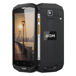 Wholesale Smartphone Android Quad Core Rugged - Original AGM A8 Waterproof Phone IP68 4GB RAM 64GB ROM Rugged Shockproof Smartphone NFC Android 7.0 Dual SIM 5 inch 4G Phone