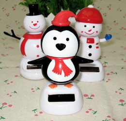 Wholesale Car Accessory Shaking Toy - Shake head to furnishing articles toys vehicle interior lovely flowers car solar snowman decorations car accessories small place doll