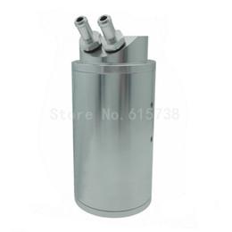 Wholesale Aluminum Engines - Silver Oil Catch Tank Aluminum Reservoir Breather Can Kit Car Engine