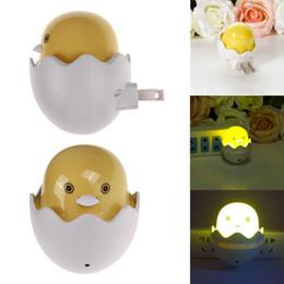 Wholesale Light Switches Wall Sockets - Wholesale- Novelty Duck AC110-220V Wall Socket Light-control Sensor LED Night Light Baby Bedroom Lamp