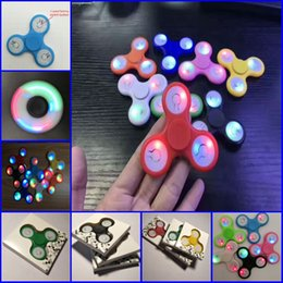 Wholesale Led Power Cans - Can Control Led Power Off & On Triangle LED light EDC Fidget Spinner Hand Spinner luminous Hand Spinner Toy Stress Reducer Focus Toy