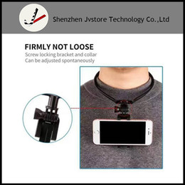 Wholesale Iphone Sports Car - Wearable Mount POV Neck collar Stand Holder For iphone 7 6S xiaomi redmi note 3 pro 4 mi5 Car Motorcycle Sport Accessories Selfie Camera