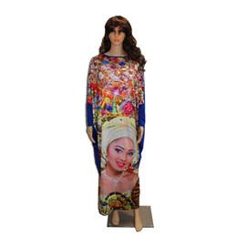Canada 2017 Mode Africaine Dashiki Nouveau Design femmes robes Bazin Élastique Parti PLus Taille vie riche Diamant Motif Lâche Robe Offre
