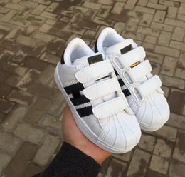 Wholesale Baby Brown Shoes - Hot Skateboarding Shoes baby Casual Shoes Superstar Female Sneakers kids Zapatillas Deportivas Mujer Lovers Sapatos Femininos kids shoe
